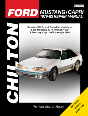 Ford Mustang/Capri (1979-93) for of Ford Mustang (1979-93) & Mercury Capri (1979-86) Chilton Repair Manual (USA)