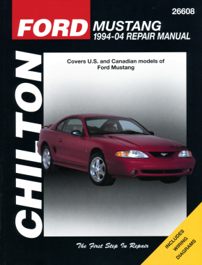 Ford Mustang (1994-04) for except independent rear suspension/driveaxles on 1999 & later Cobra models nor information on 2003 & 2004 Cobra models Chilton Repair Manual (USA)
