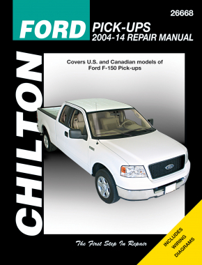 Ford Pick-Ups (2004-14) for Ford F-150 Pick-Ups (exc. F-250, Super Duty & Diesel models. Does not include information specific to F-150 Heritage, Lightning or Raptor models) Chilton Repair Manual (USA)