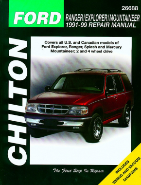 Ford Ranger/Explorer/Mountaineer (1991-99) for of Ford Ranger, Explorer, Splash & Mercury Mountaineer for 2 & 4 wheel drive Chilton Repair Manual (USA)