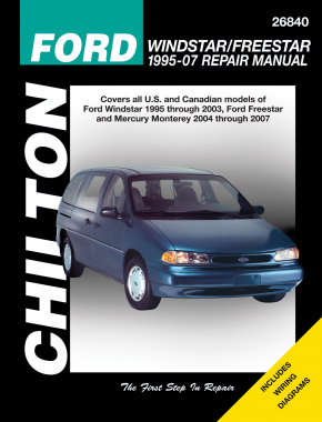 Ford Windstar/Freestar (1995-07) covering Ford Windstar (1995-03), Freestar & Mercury Monterey (2004-07) Chilton Repair Manual (USA)