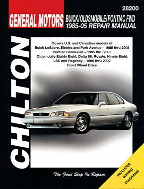 General Motors Buick/Oldsmobile/Pontiac Front Wheel Drive vehicles (1985-20)05 covering Buick LeSabre, Electra & Park Ave (1985-05), Pontiac Bonneville (1985-05), Oldsmobile Eighty Eight, Delta 88, Royale, Ninety Eight, LSS Chilton Repair Manual (USA)
