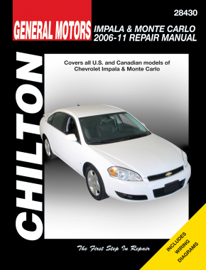 General Motors Impala & Monte Carlo (2006-08) for of Chevy Impala & Monte Carlo Chilton Repair Manual (USA)