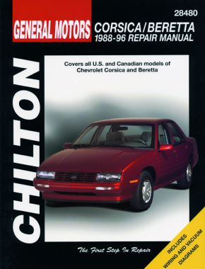 General Motors Corsica/Beretta (1988-96) for of Chevy Corsica & Beretta Chilton Repair Manual (USA)