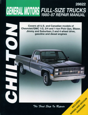 General Motors Full-Size Trucks (1980-87) for of Chevrolet/GMC 1/2 ton, 3/4 ton & 1 ton Pick-Ups, Blazer, Jimmy & Suburban including 2 & 4 wheel drive as well as gas & diesels Chilton Repair Manual (USA)