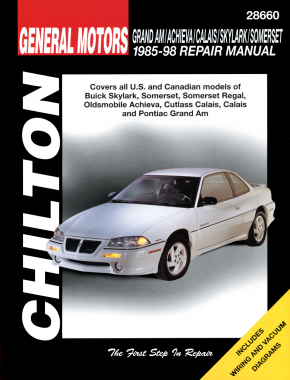 General Motors (1985-98) for of Buick Skylark, Somerset, Somerset Regal, Oldsmobile Achieva, Cutlass Calais, Calais & Pontiac Gr& Am Chilton Repair Manual (USA)