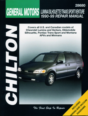 General Motors (1990-99) for of Chevrolet Lumina & Venture, Oldsmobile Silhouette, Pontiac Trans Sports & Montana APVs & Minivans Chilton Repair Manual (USA)