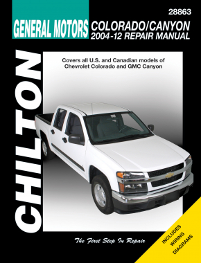 General Motors (2004-12) for of Chevrolet Colorado & GMC Canyon Chilton Repair Manual (USA)