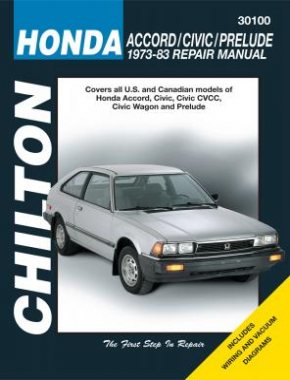 Honda Chilton Repair Manual for 1973-83 covering all models of Honda Accord, Civic, Civic CVCC, Civic Wagon and Prelude