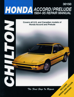 Honda Accord & Prelude (1984-95) Chilton Repair Manual (USA)