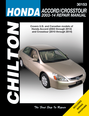 Honda Accord (2003-14) & Crosstour (2010-12) but exc. hybrid models & FWD models Chilton Repair Manual (USA)