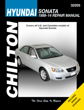 Hyundai (1999-14) for of Sonata exc. hybrid models Chilton Repair Manual (USA)