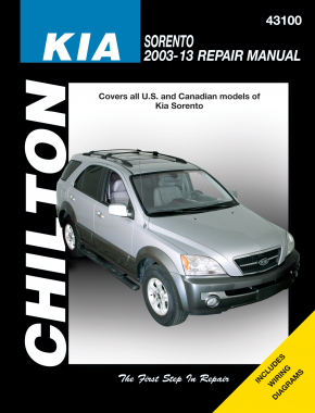 Kia for all models of Sorento (2003-13) Chilton Repair Manual (USA)