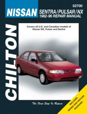 Nissan Sentra, Pulsar & NX Chilton Repair Manual covering all models for 1982-96