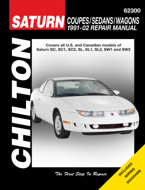 Saturn Coupes, Sedans & Wagons covering the SC, SC1, SC2, SW1 & SW2 (1991-02) Chilton Repair Manual (USA)