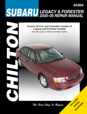 Subaru Legacy & Forester (2000-09) (Does not include information specific to six-cylinder & diesel models) Chilton Repair Manual (USA)