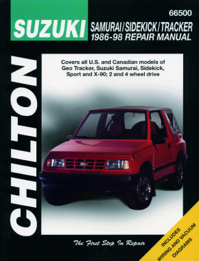 Suzuki Samurai, Sidekick & Tracker for of Geo Tracker, Suzuki Samurai, Sidekick, Sport & X-90 (1986-98) Chilton Repair Manual (USA)