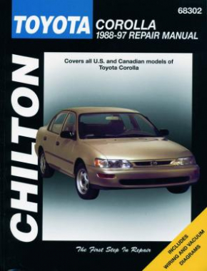 Toyota Corolla Chilton Repair Manual covering all models for 1988-97