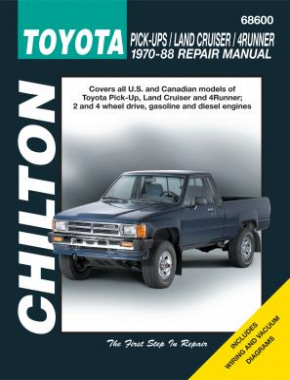 Toyota Pick-ups, Land Cruiser and 4Runner Chilton Repair Manual covering all models for 1970-88