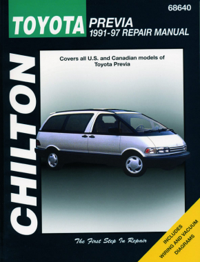 Toyota Previa for (1991-97) Chilton Repair Manual (USA)