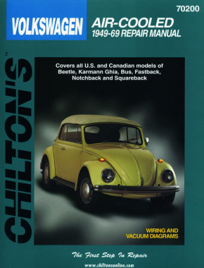 Volkswagen Air-Cooled Models covering Beetle, Karmann Ghia, Bus, Fastback, Notchback & Squareback (1949-69) Chilton Repair Manual (USA)