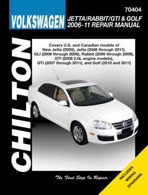 Volkswagen Jetta, Rabbit, GTI & Golf covering New Jetta (2005), Jetta (2006-11), GLI (2006-09), Rabbit (2006-09), GTI 2.0L models (2006), GTI (2007-11) & Golf (2010-11) (Does not include 2005 Jetta based on the A4 platform Chilton Repair Manual (USA)
