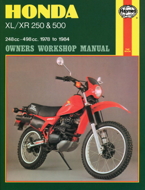 Honda XL/XR with 250cc & 500cc (78-83) Haynes Repair Manual