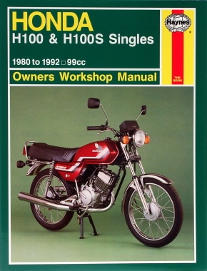 Honda H100 and H100S Singles 1980-1992 Haynes Repair Manual