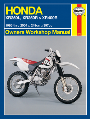 Honda XR250L (91-96), XR250R (86-03), & XR400R (96-03) Haynes Repair Manual