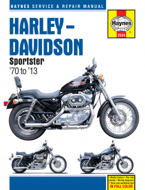 Harley-Davidson Sportsters XL, XLH, XLCH, XLS & XLX with 883/1000/1100 & 1200 engines (70-13) Haynes Repair Manual