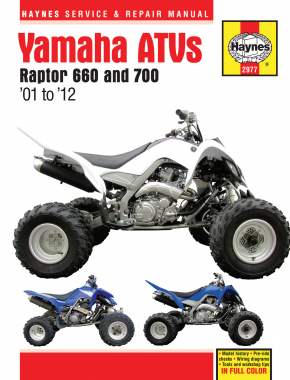 Yamaha Raptor 660 (01-05) & Raptor 700 (06-12) Haynes Repair Manual