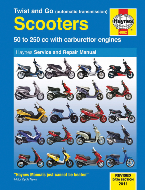 Twist and Go  (automatic transmission) 50-250cc Scooters Haynes Repair Manual