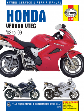 Honda VFR800 VTEC 782cc (02-09) Haynes Repair Manual