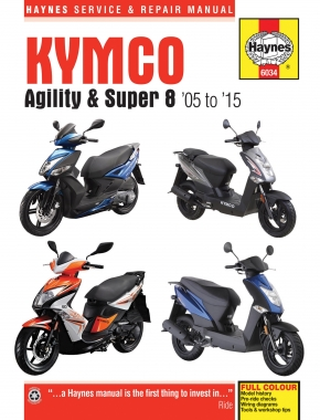 Kymco Agility & Super 8 Scooters (05-15) Haynes Repair Manual