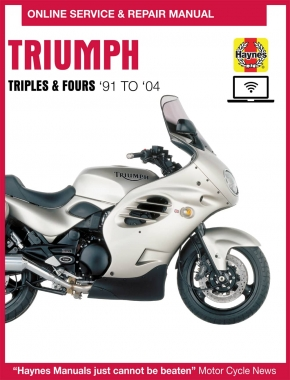 Triumph 750/900 Triples & 1200 Fours Haynes Online Manual covering 750, 900 and 1200cc for (91-04)
