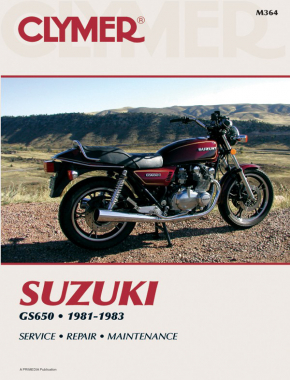 Suzuki GS650 Motorcycle (1981-1983) Service Repair Manual