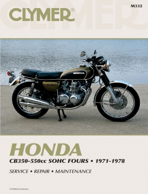 Honda CB350-550CC Sonic Fours Motorcycle, 1971-1978 Service Repair Manual