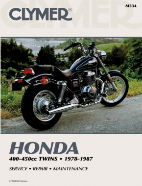 Honda CB/CM400-450 & CMX450 Motorcycle (1978-1987) Service Repair Manual