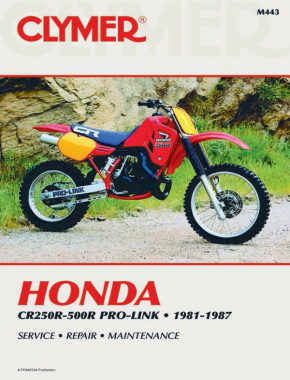 Honda CR250R-500R Pro-Link Motorcycle (1981-1987) Service Repair Manual