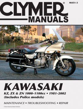 Kawasaki KZ, ZX & ZN 1000-1100cc Motorcycle (1981-2002) Service Repair Manual