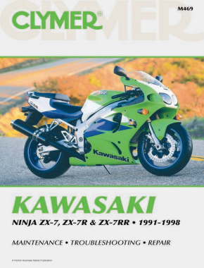 Kawasaki Ninja ZX-7, ZX-7R & ZX-7RR Motorcycle (1991-1998) Service Repair Manual