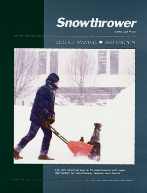 Proseries Snowthrower Service Repair Manual Volume 1