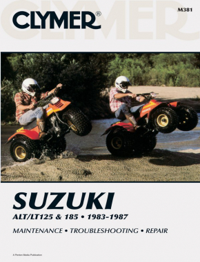 Suzuki ALT/LT125 & 185 ATV (1983-1987) Service Repair Manual