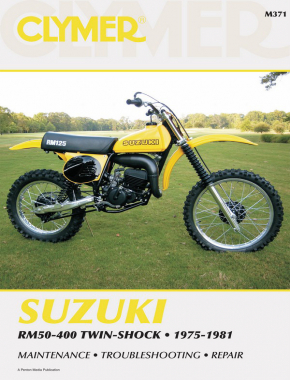 suzuki rm50 400 twin shock motorcycle 1975 1981 service repair rh haynes com 1989 suzuki rm 125 service manual 1979 suzuki rm 125 service manual