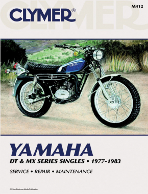 Yamaha DT & MX Series Singles Motorcycle (1977-1983) Service Repair Manual