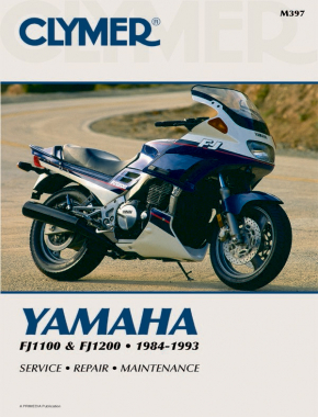 Yamaha FJ1100 and FJ1200 Motorcycle (1984-1993) Service Repair Manual