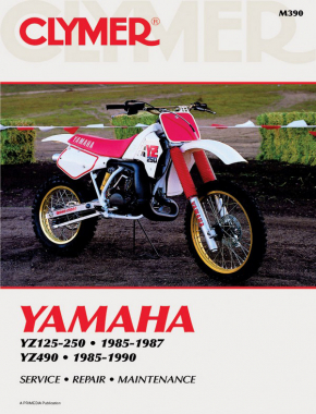 Yamaha YZ125 & YZ250 (1985-1987) &YZ490 (1985-1990) Motorcycle Service Repair Manual