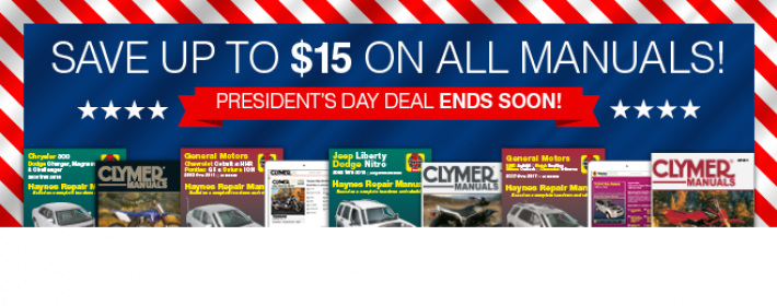 President's Day Promotion Header