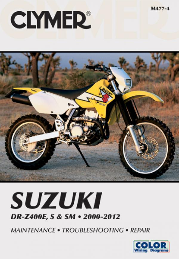 Suzuki DR-Z400E, S & SM Manual Motorcycle (2000-2012) Service Repair Manual
