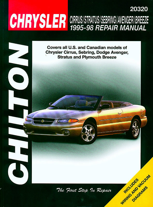 Chrysler Cirrus, Stratus, Sebring, Avenger, Breeze (1995-98) Chilton Repair Manual (USA)